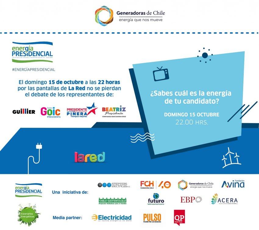 Domingo 15 de octubre a las 22 horas debate #EnergiaPresidencial por La Red TV