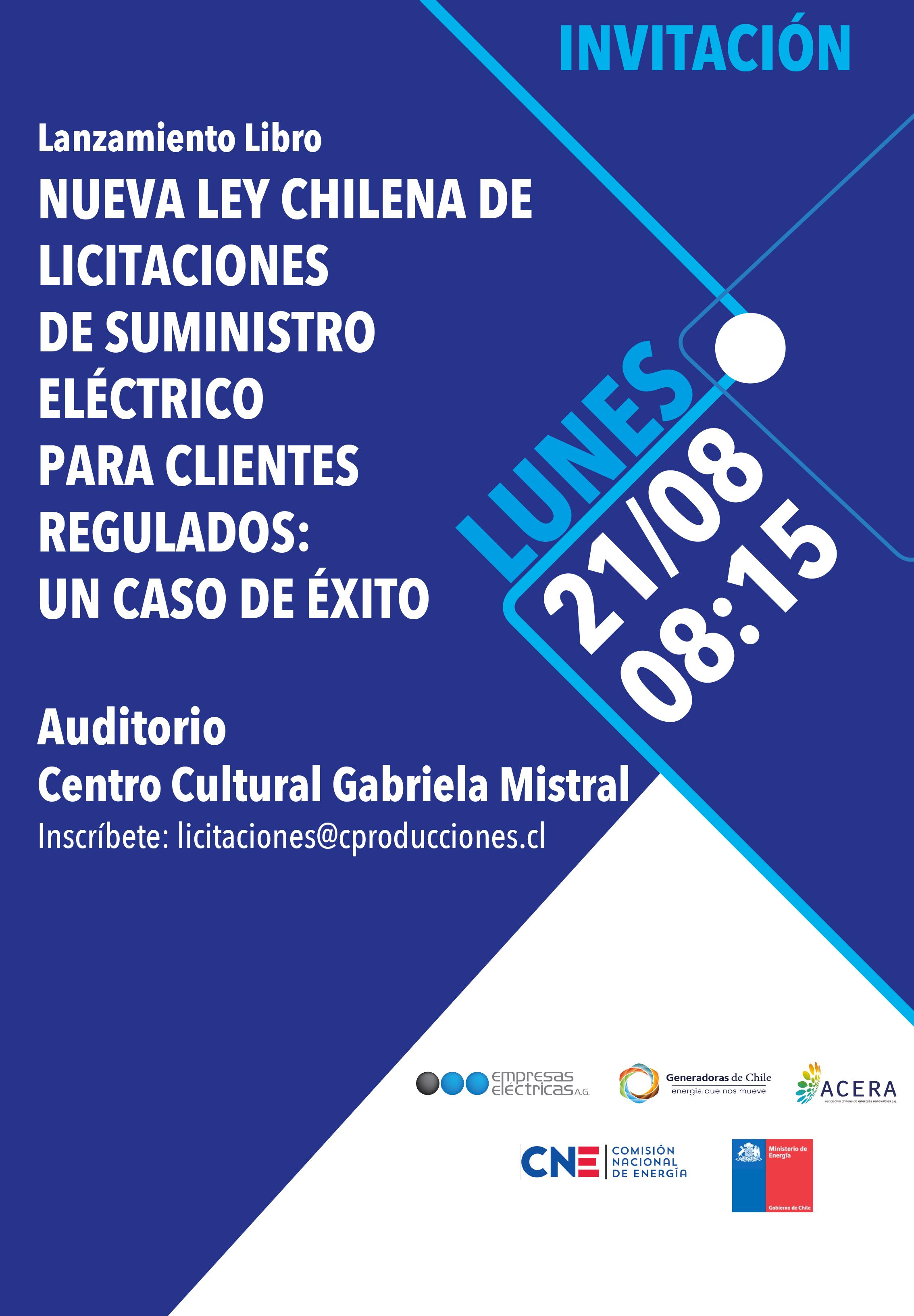 Lanzamiento de Libro sobre Licitaciones eléctricas