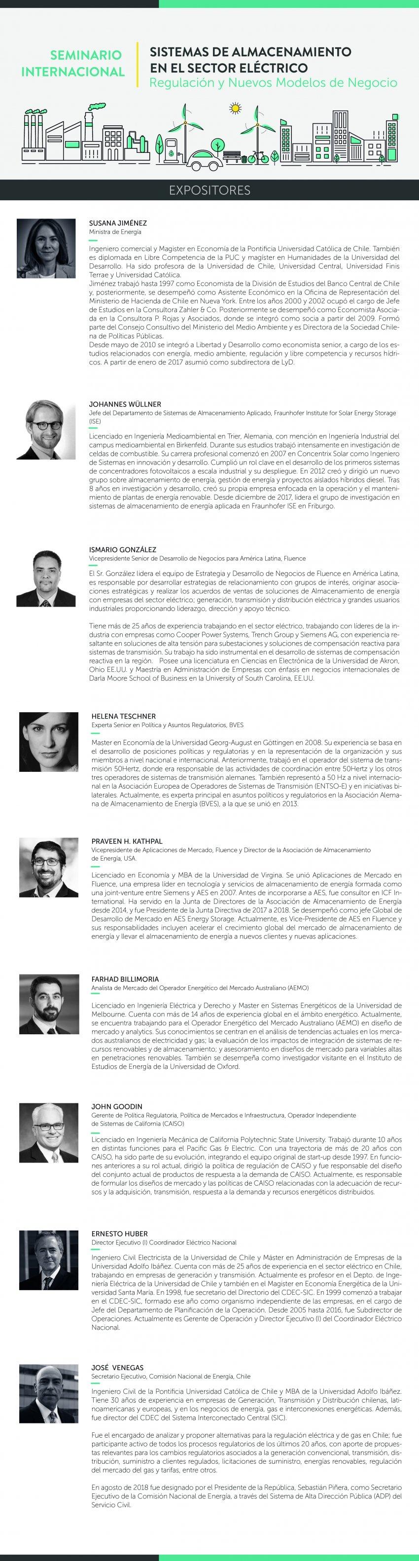 Expositores Seminario Internacional Almacenamiento